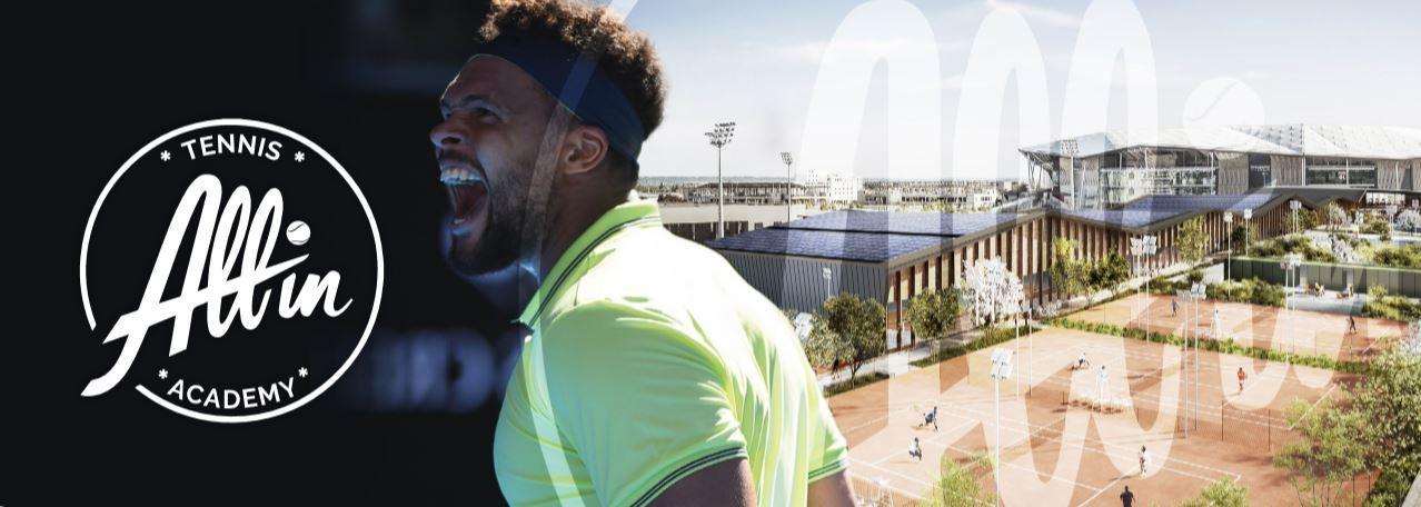 All in Academy logo Jo-Wilfried Tsonga